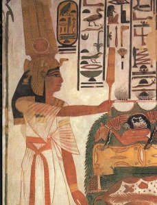 Nefertari making offerings